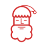 96x96px size png icon of Santa Claus