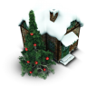 96x96px size png icon of Xmas House