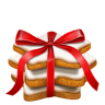 96x96px size png icon of gingerbread stars