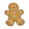 96x96px size png icon of christmas cookie man