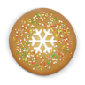 96x96px size png icon of christmas cookie round