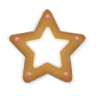 96x96px size png icon of christmas cookie star