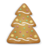 96x96px size png icon of christmas cookie tree