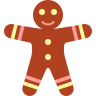 96x96px size png icon of gingerbread men