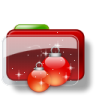 96x96px size png icon of Christmas Folder Balls Stars