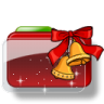 96x96px size png icon of Christmas Folder Bells Stars