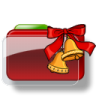 96x96px size png icon of Christmas Folder Bells