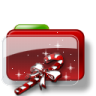 96x96px size png icon of Christmas Folder Candy