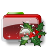 96x96px size png icon of Christmas Folder Holly 2