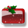 96x96px size png icon of Christmas Folder Holly Stars