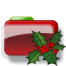 96x96px size png icon of Christmas Folder Holly