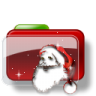 96x96px size png icon of Christmas Folder Santa