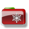 96x96px size png icon of Christmas Folder Snow