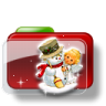 96x96px size png icon of Christmas Folder Snowman