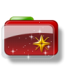 96x96px size png icon of Christmas Folder Star 2