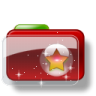 96x96px size png icon of Christmas Folder Star 4