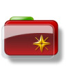 96x96px size png icon of Christmas Folder Star