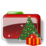 96x96px size png icon of Christmas Folder Tree Gift