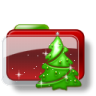 96x96px size png icon of Christmas Folder Tree