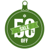 96x96px size png icon of Sale 50 percent off