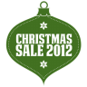96x96px size png icon of christmas sale 2012 green