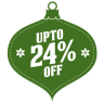 96x96px size png icon of upto 24 percent off