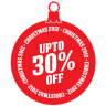 96x96px size png icon of upto 30 percent off
