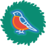 96x96px size png icon of bird