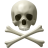 96x96px size png icon of Skull and bones