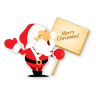 96x96px size png icon of santa merry christmas
