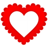 96x96px size png icon of Heart Border