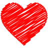 96x96px size png icon of Heart Doodle