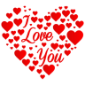96x96px size png icon of Heart I Love You