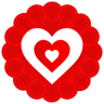 96x96px size png icon of Heart Pattern