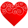 96x96px size png icon of Heart Round Pattern