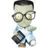 96x96px size png icon of geek zombie