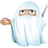 96x96px size png icon of ninja ghost