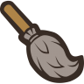 96x96px size png icon of Broom
