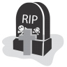 96x96px size png icon of graveyard rip