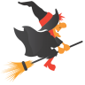 96x96px size png icon of witch broom