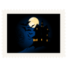 96x96px size png icon of stamp scary night
