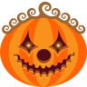 96x96px size png icon of Pumpkin Clown