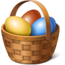 96x96px size png icon of egg basket