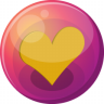 96x96px size png icon of heart orange 1