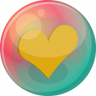 96x96px size png icon of heart orange 2