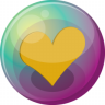 96x96px size png icon of heart orange 3