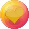 96x96px size png icon of heart orange 4