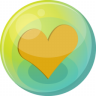 96x96px size png icon of heart orange 5