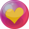 96x96px size png icon of heart orange 6
