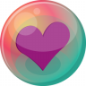 96x96px size png icon of heart purple 2
